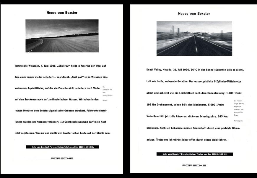 Porsche Boxster Teaser-Kampagne
